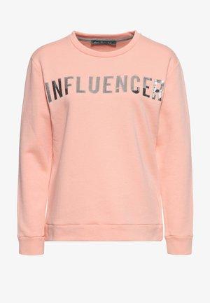 MIT PAILLETTEN - Sweatshirt - rosa