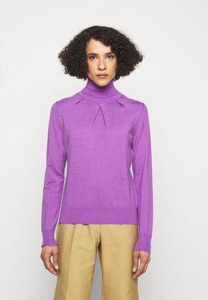 BLEND LAYERING PLEAT DETAIL - Trui - purple