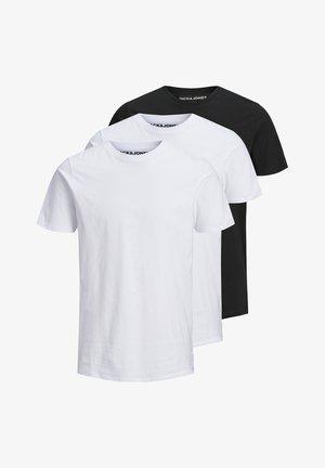 3 PACK  - Basic T-shirt - black white