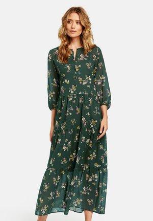 GEWEBE MIT FLOWERDESSIN - Maxi dress - deep forest-bunt