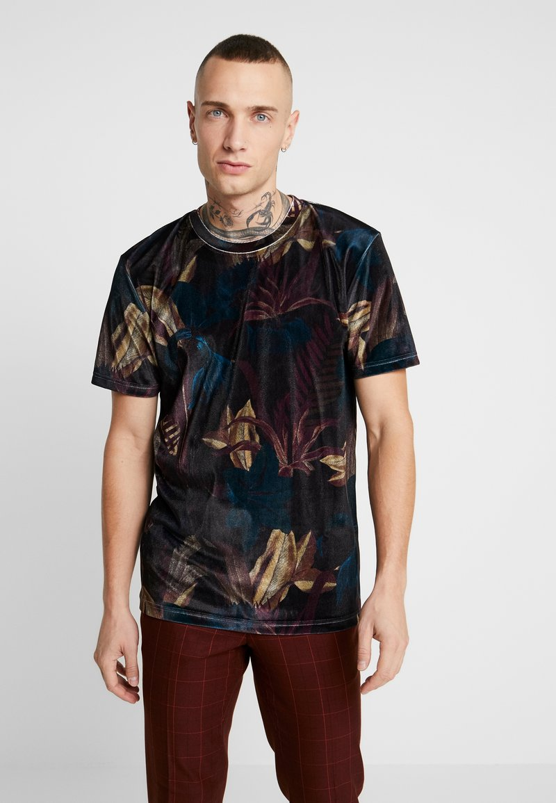 Topman - LEAF TEE - T-shirt med print - multi