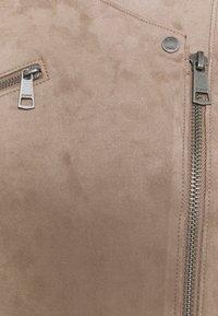 Esprit - BIKER - Faux leather jacket - taupe - 2