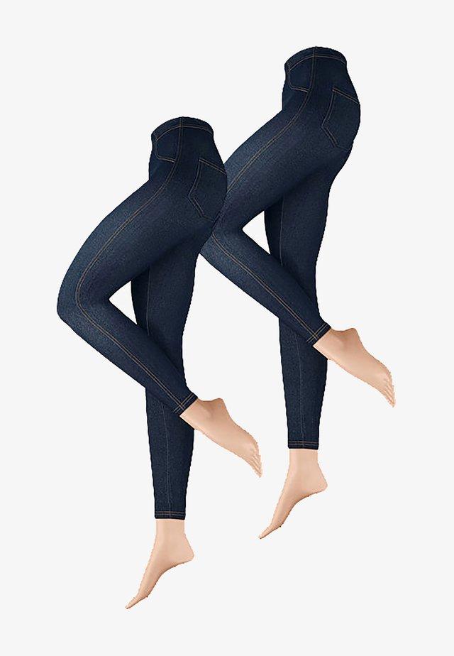 2-PACK - Leggings - dunkeljeans