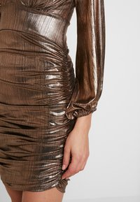 Club L London - PLUNGE RUCHED DRESS - Cocktail dress / Party dress - bronze - 6