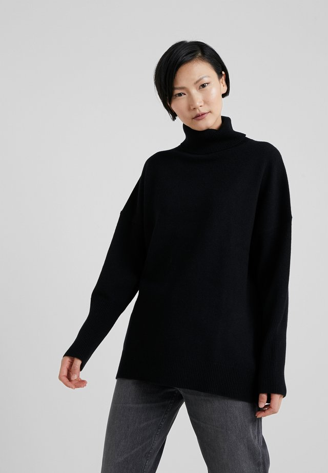 THE RELAXED - Strikpullover /Striktrøjer - black