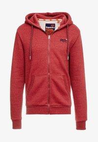 Superdry - ZIP HOOD - Sweater met rits - desert red grit - 3