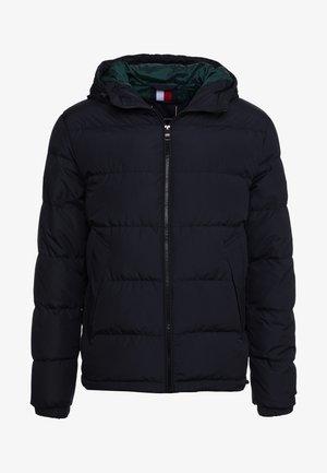 HOODED REDOWN BOMBER - Down jacket - black