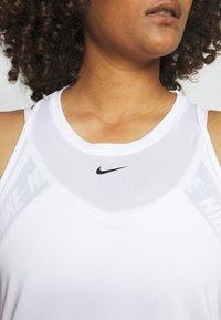 Nike Performance - ONE TANK - Topper - white/black - 4