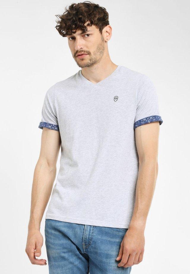 VOURTANOS - T-shirt basic - grey