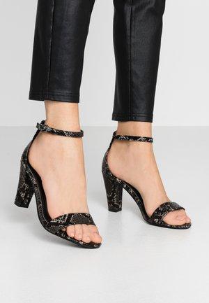 Højhælede sandaletter / Højhælede sandaler - dark grey