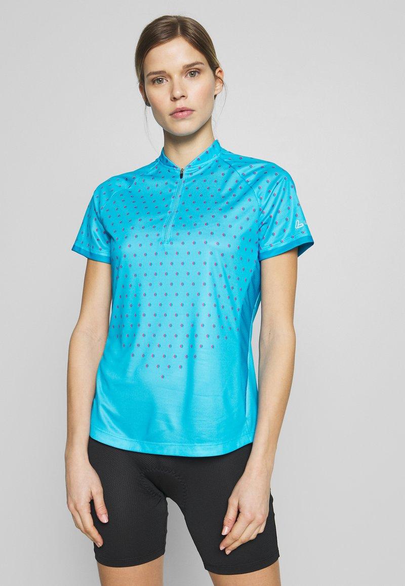 LÖFFLER - BIKE RISE UP - T-Shirt print - sky