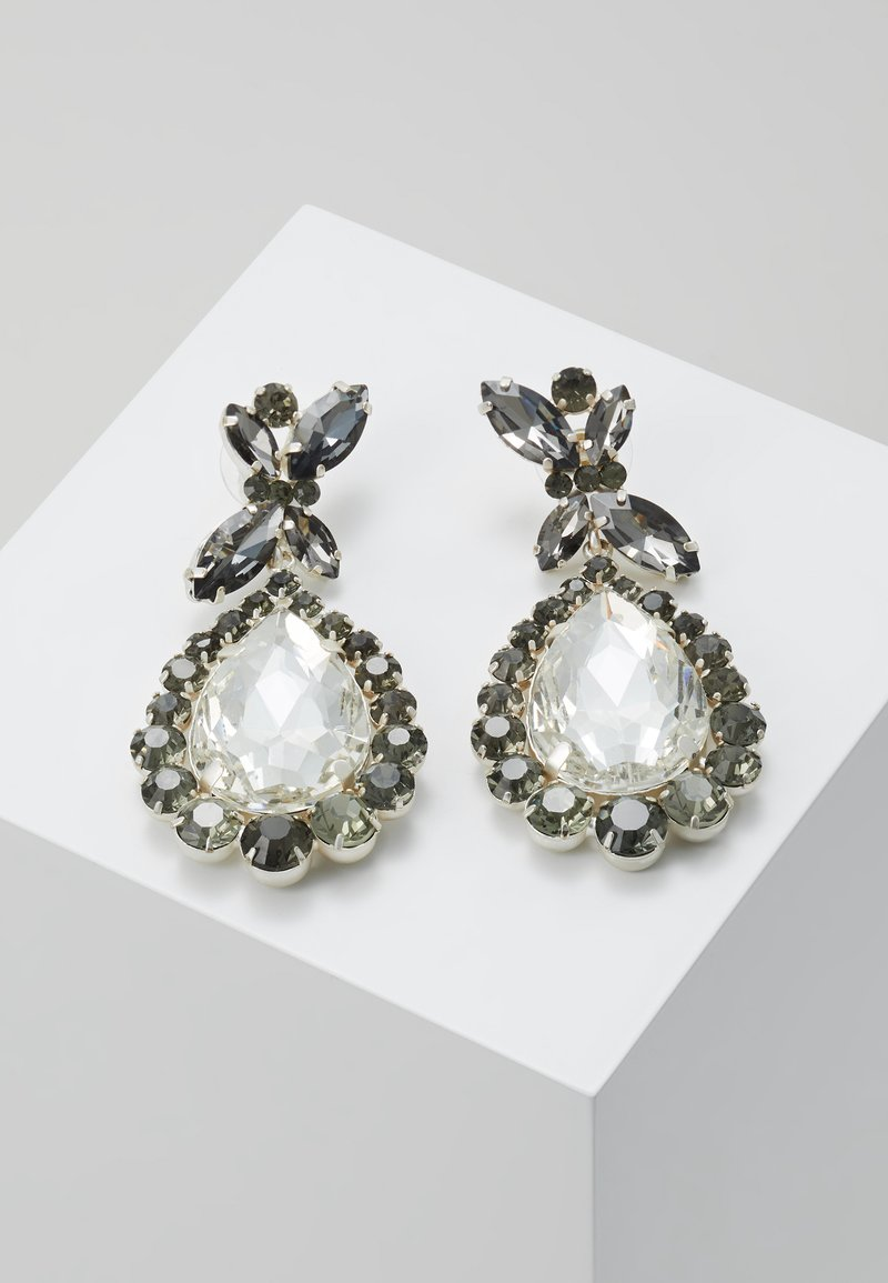 sweet deluxe - PRINCESS - Oorbellen - silver-coloured/diam/cryst