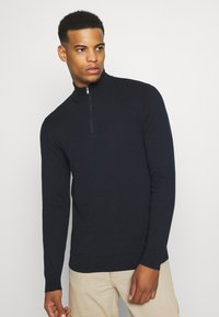 Burton Menswear London - CORE HALF ZIP - Jumper - navy - 0
