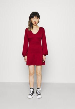 BALOON SLEEVE SKATER DRESS - Žerzejové šaty - biking red