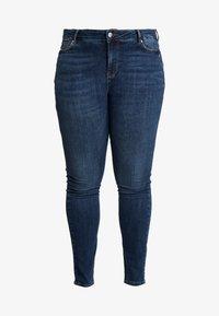 Vero Moda Curve - Slim fit jeans - dark blue denim - 3
