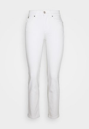 MID RISE SLIM ANKLE - Slim fit jeans - white