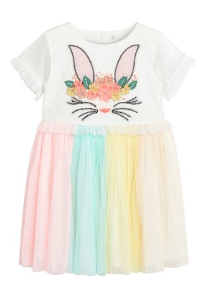 MULTI BUNNY FACE PARTY DRESS (3MTHS-7YRS) - Cocktail dress / Party dress - pink