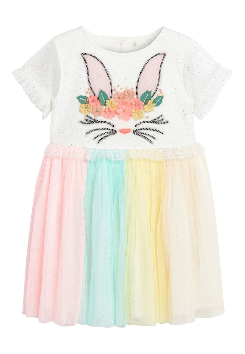 Next - MULTI BUNNY FACE PARTY DRESS (3MTHS-7YRS) - Cocktail dress / Party dress - pink