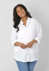 Live Unlimited London - Button-down blouse - white - 0