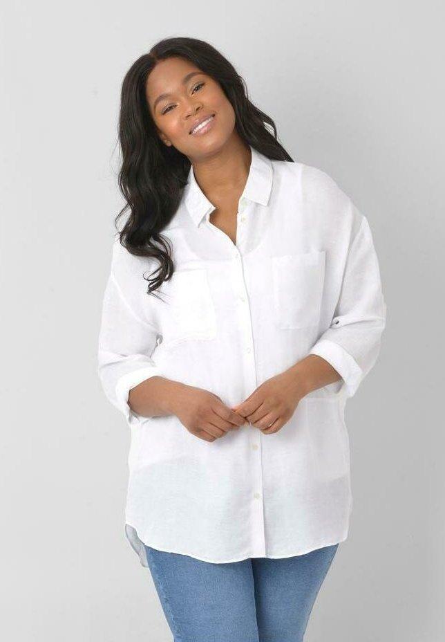 Live Unlimited London - Button-down blouse - white