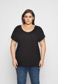 Pieces Curve - PCBILLO TEE SOLID - Basic T-shirt - black - 0