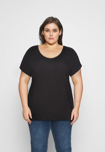 PCBILLO TEE SOLID - Basic T-shirt - black