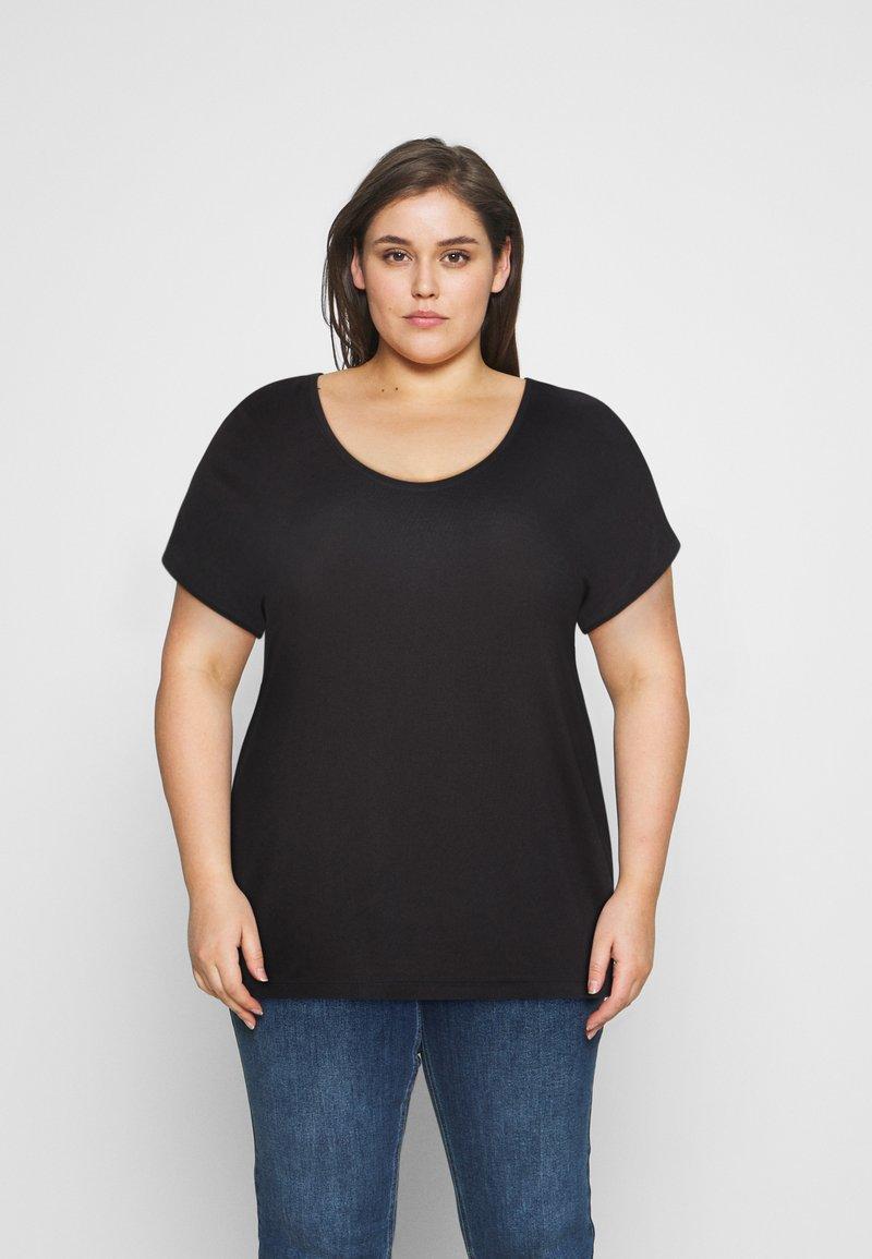 Pieces Curve - PCBILLO TEE SOLID - Basic T-shirt - black