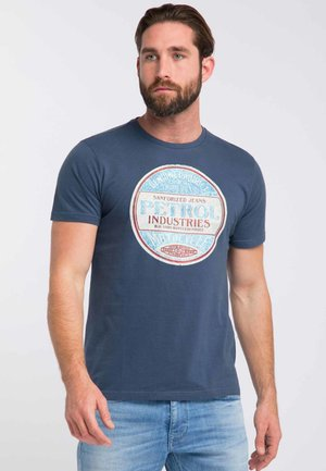 T-shirt print - stone blue