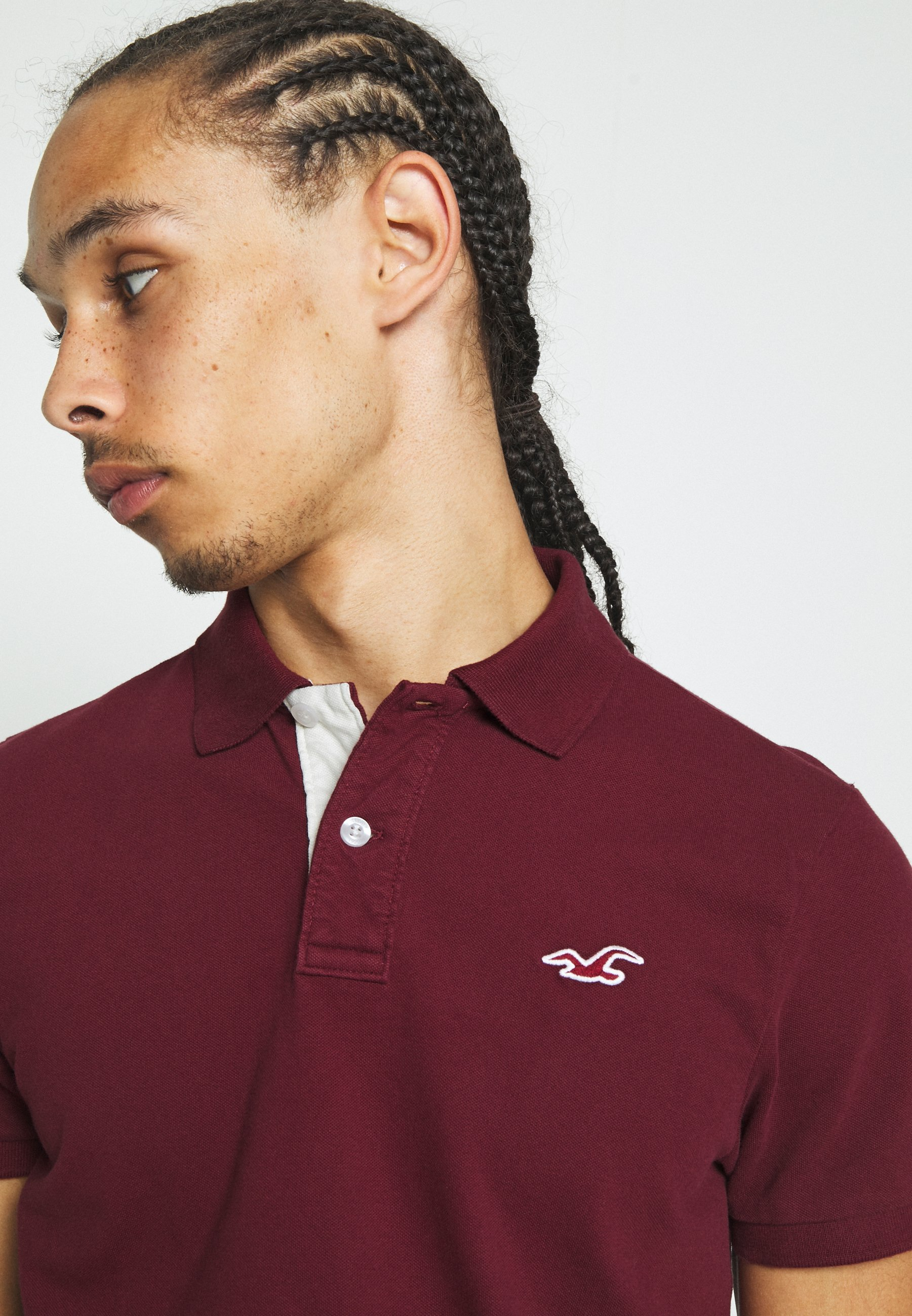 Hollister Co. Polo shirt - burgundy qwTSP