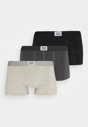 JACINTRO TRUNKS 3 PACK - Culotte - dark grey melange/light grey melange/black