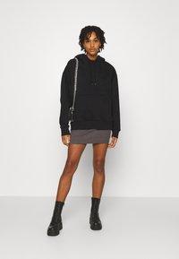 Even&Odd - Basic mini ribbed skirt - Falda de tubo - mottled dark grey - 1