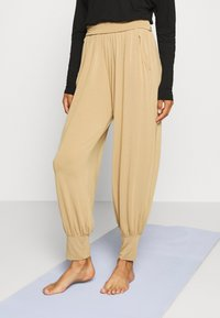 Deha - PANTS - Tracksuit bottoms - beige - 0