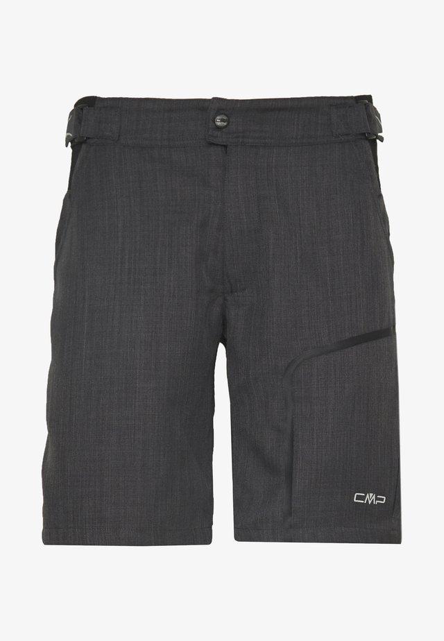 MAN FREE BIKE BERMUDA WITH INNER UNDERWEAR - Sports shorts - nero