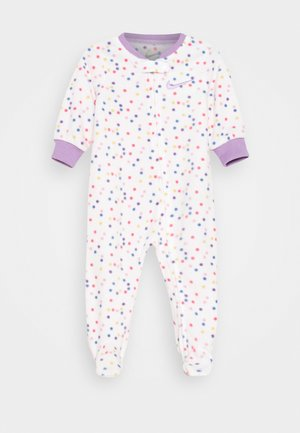 DOT FOOTED COVERALL - Pyjamaser - white