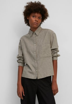 CROPPED BOXY  - Button-down blouse - beige