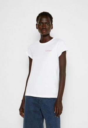 THE LOVE TEE WHITE LABEL - Basic T-shirt - white