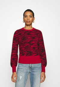 Calvin Klein Jeans - ZEBRA  - Jumper - red hot - 0