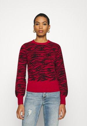 ZEBRA  - Sweter - red hot
