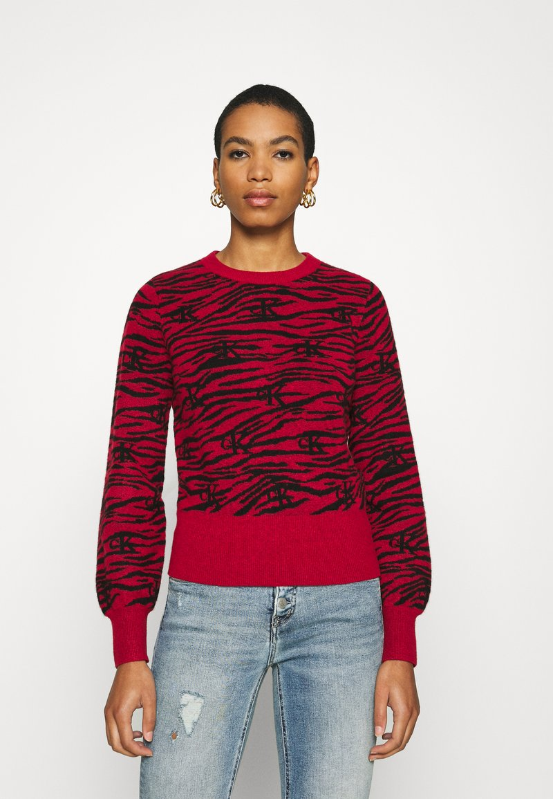 Calvin Klein Jeans - ZEBRA  - Jumper - red hot