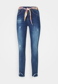 Desigual - RAINBOW - Jeansy Skinny Fit - denim dark - 5