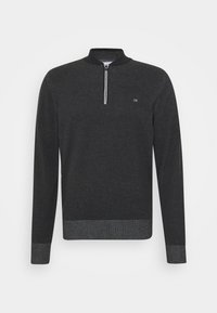 Calvin Klein - BASEBALL ZIP - Stickad tröja - black - 4