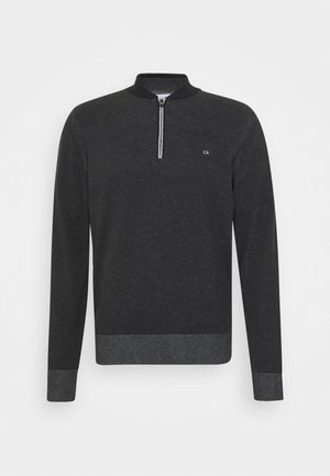 BASEBALL ZIP - Maglione - black