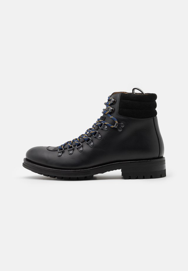 BIUNE - Bottines à lacets - black