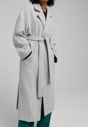 MANTEL - Short coat - mottled light grey