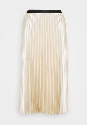 ONTI SHINE - Pleated skirt - ivory