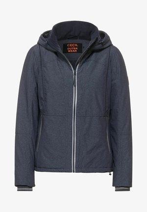 MIT KAPUZE - Outdoor jacket - mottled dark blue