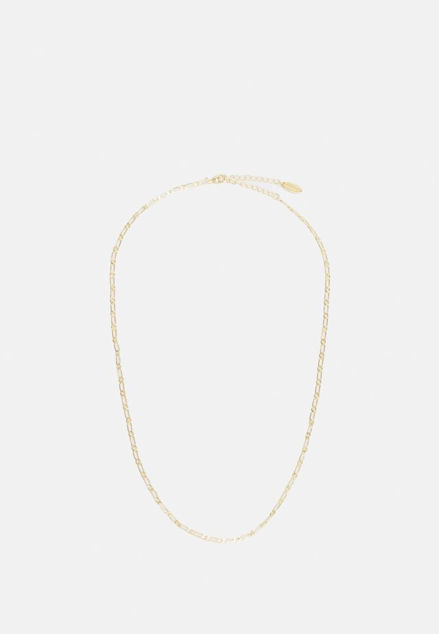 FLAT DAINTY FIGAROCHAIN NECKLACE - Ketting - pale gold-coloured