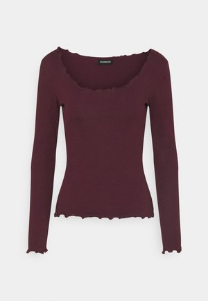 Topper langermet - dark red