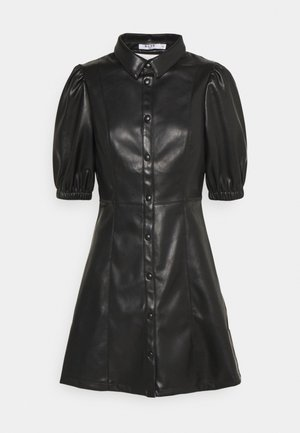 PUFF SLEEVE DRESS - Kjole - black