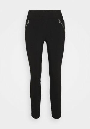 SIDE ZIP DETAIL SKINNY TROUSER - Kalhoty - black